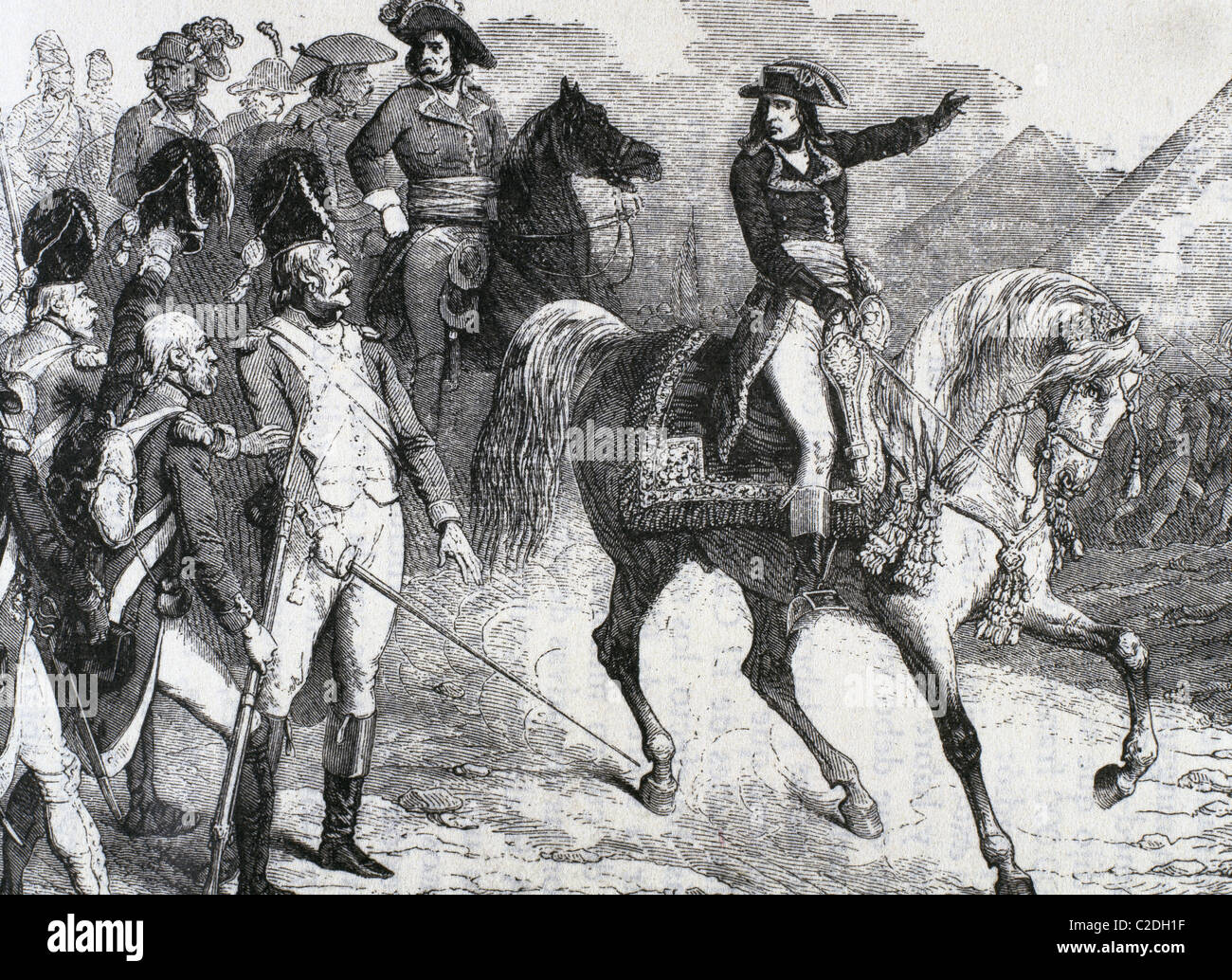 Napoleón Bonaparte (1769-1821). Líder político y militar de Francia y el emperador de los franceses en la batalla de las pirámides. Foto de stock