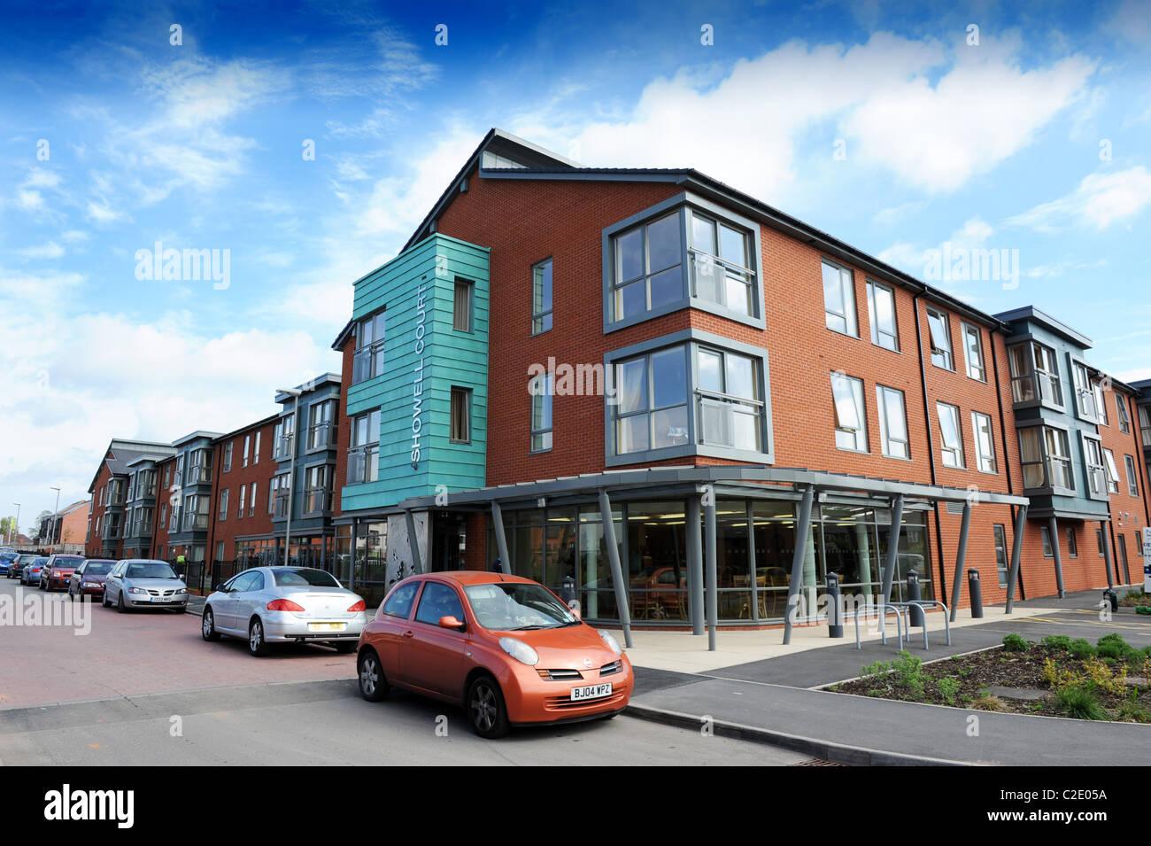 Corte Showell plan de vivienda protegida en la colina baja, Wolverhampton Foto de stock