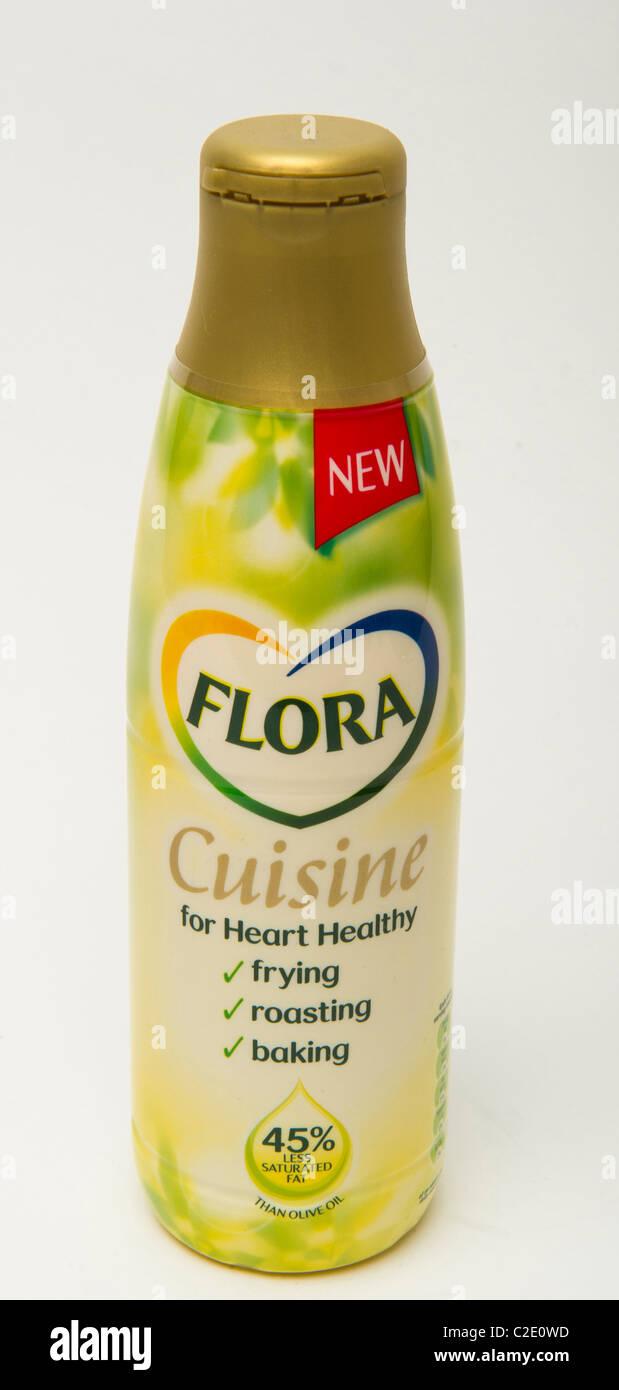 Aceite de cocina saludable cocina Flora Imagen De Stock