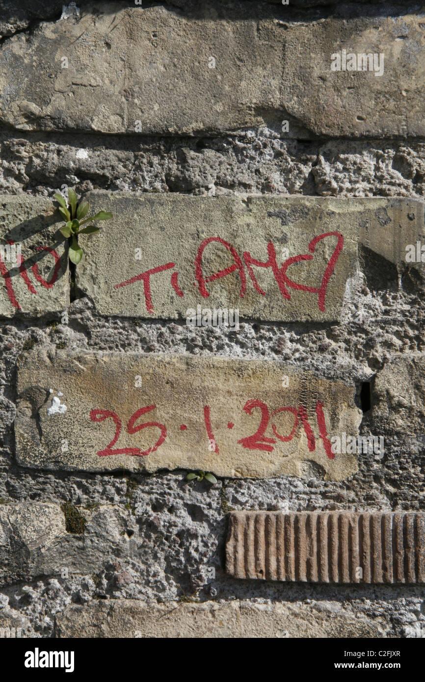 Idioma Italiano Ti Amo Frase Amor Corazón Graffiti En Pared