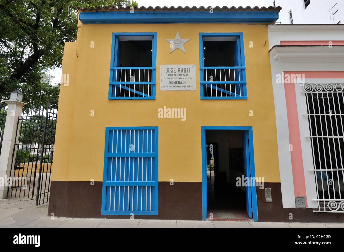 La Habana. Cuba. La Casa Natal de José Martí / Casa Natal de José Martí, Habana Vieja / La Habana Vieja. Foto de stock