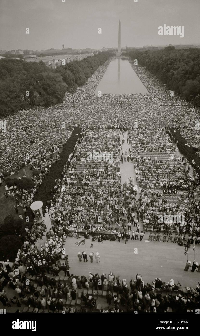 Marcha en Washington en el Mall Imagen De Stock