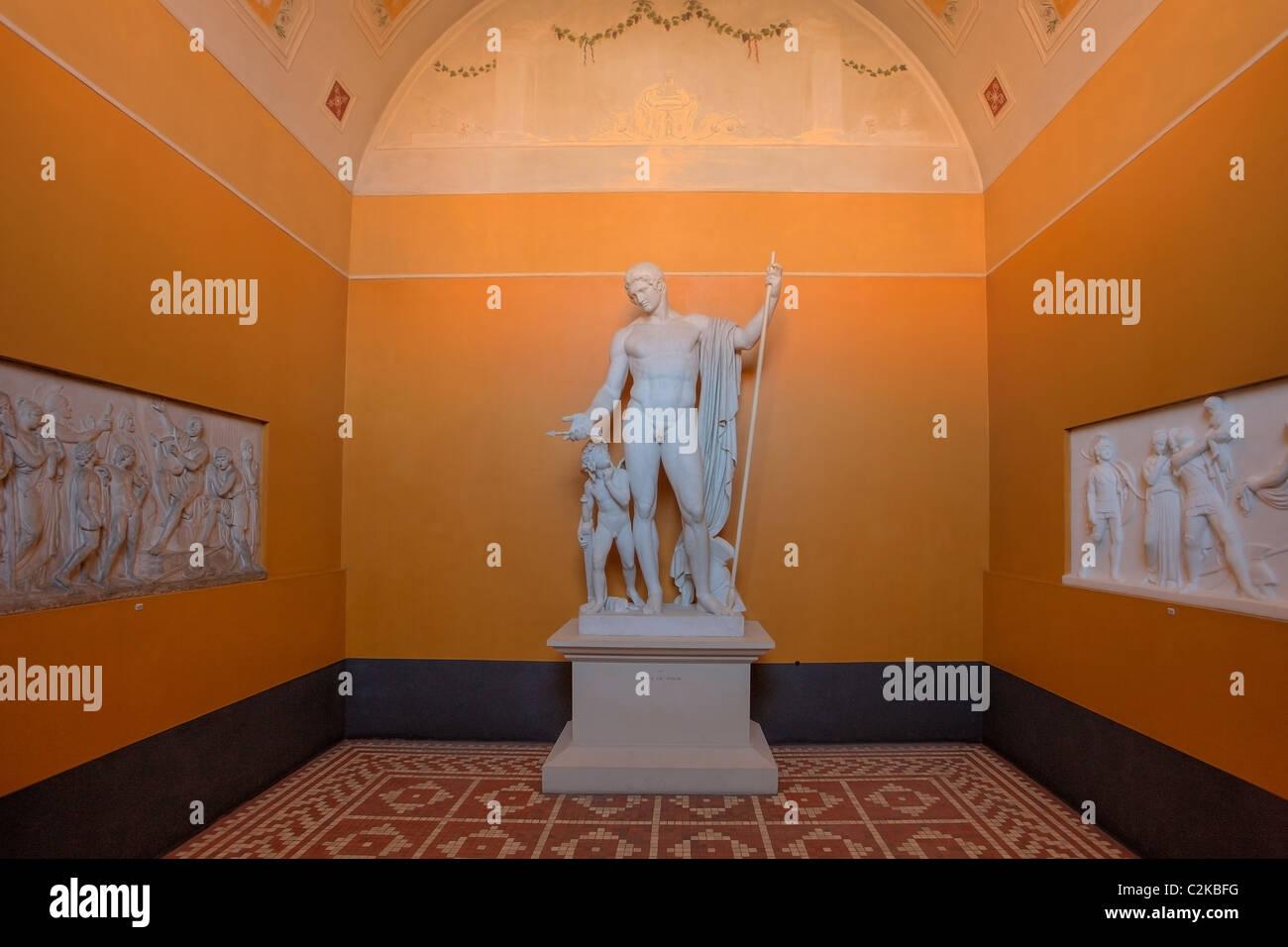 Escultura de Marte y Amor en Thorvaldsens Museum en Copenhague Dinamarca Imagen De Stock