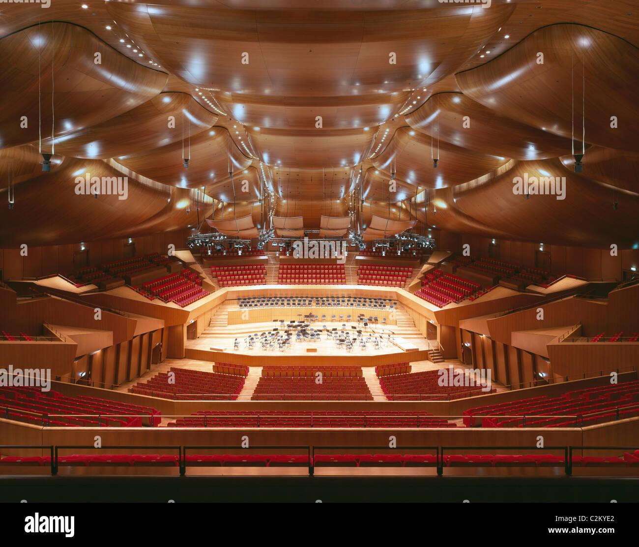 Auditorio Parco della Musica, Roma, 1997-2002. Sala Santa Cecilia. Imagen De Stock