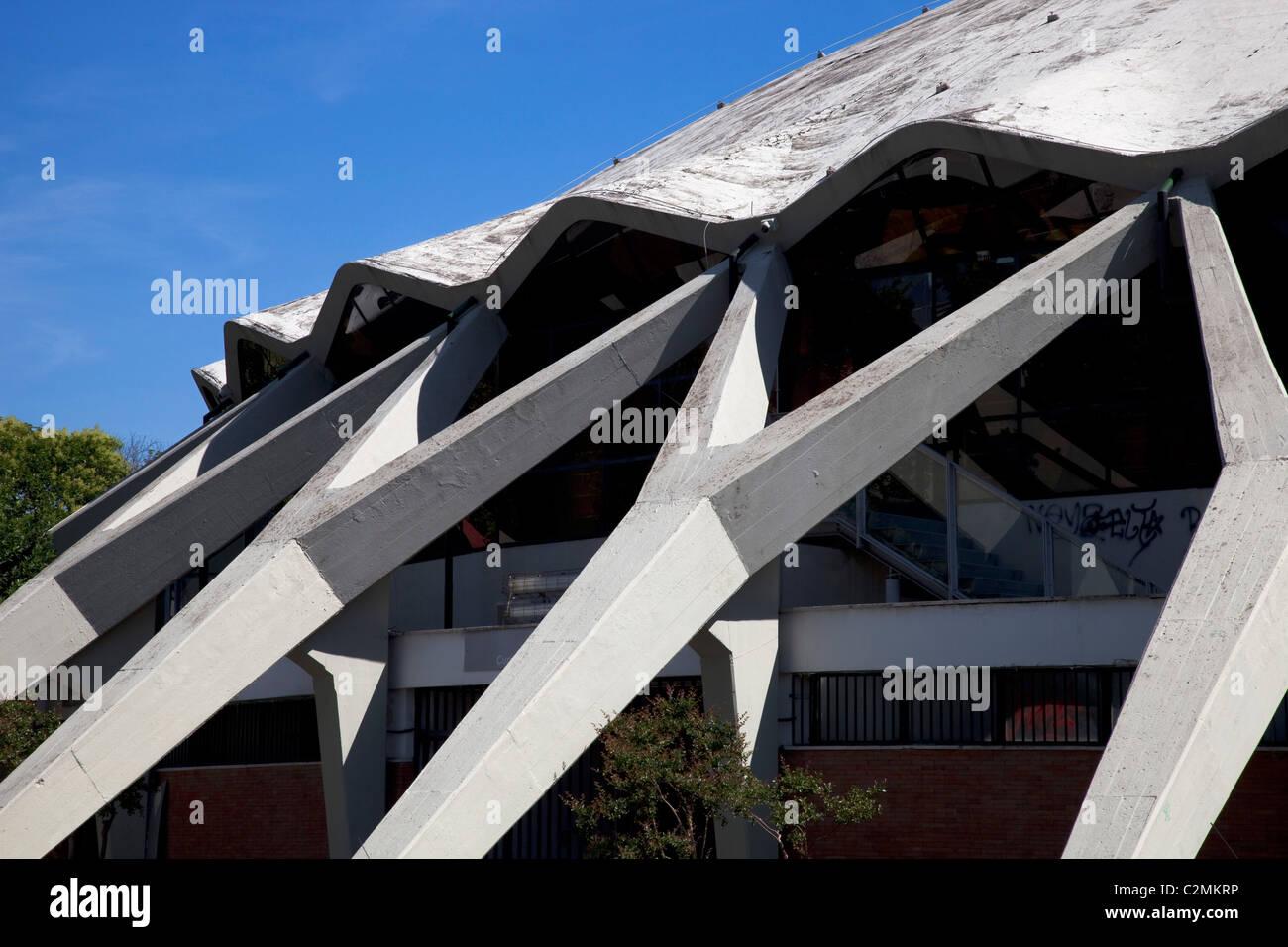 Palazzetto dello Sport, en Roma. Palacio de Deportes, Roma. Detalle de la cúpula de hormigón armado Imagen De Stock