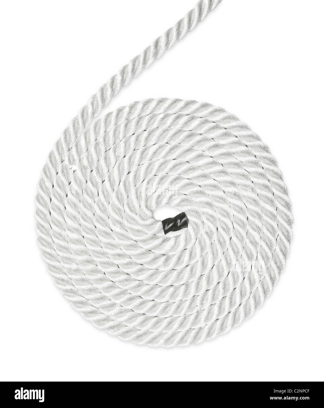 La soga fuerte aislado en blanco Imagen De Stock