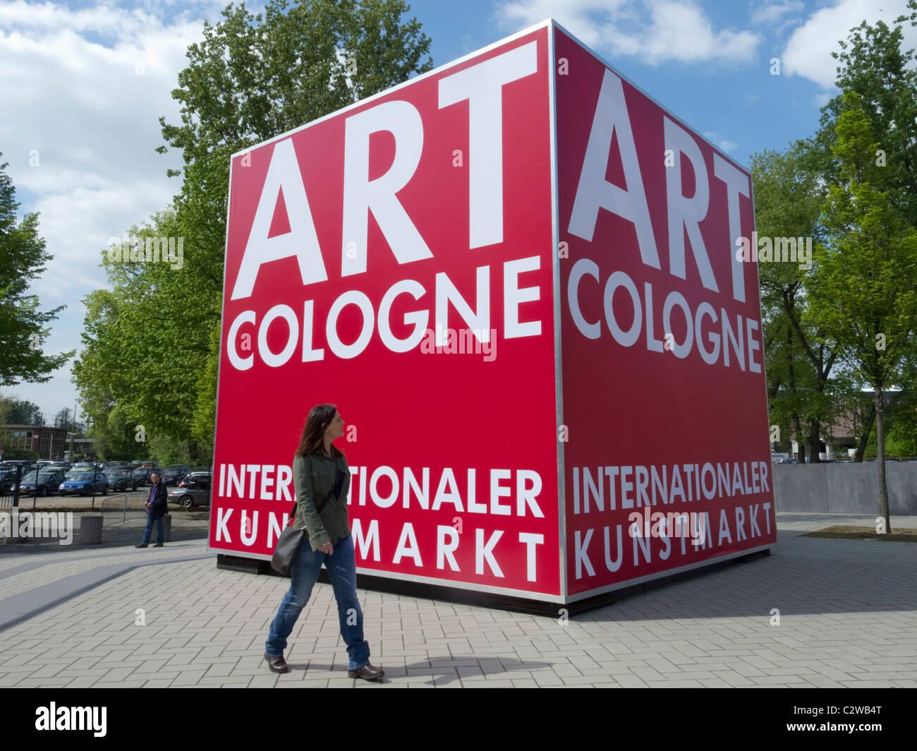 Art Cologne comercio y feria de arte público en Colonia Alemania 2011 Imagen De Stock