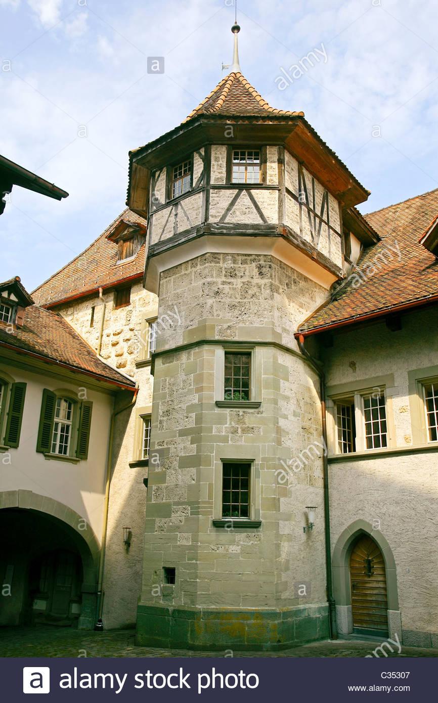 Schloss Trachselwald,Emmental, Cantón de Berna, Suiza, Europa Foto de stock