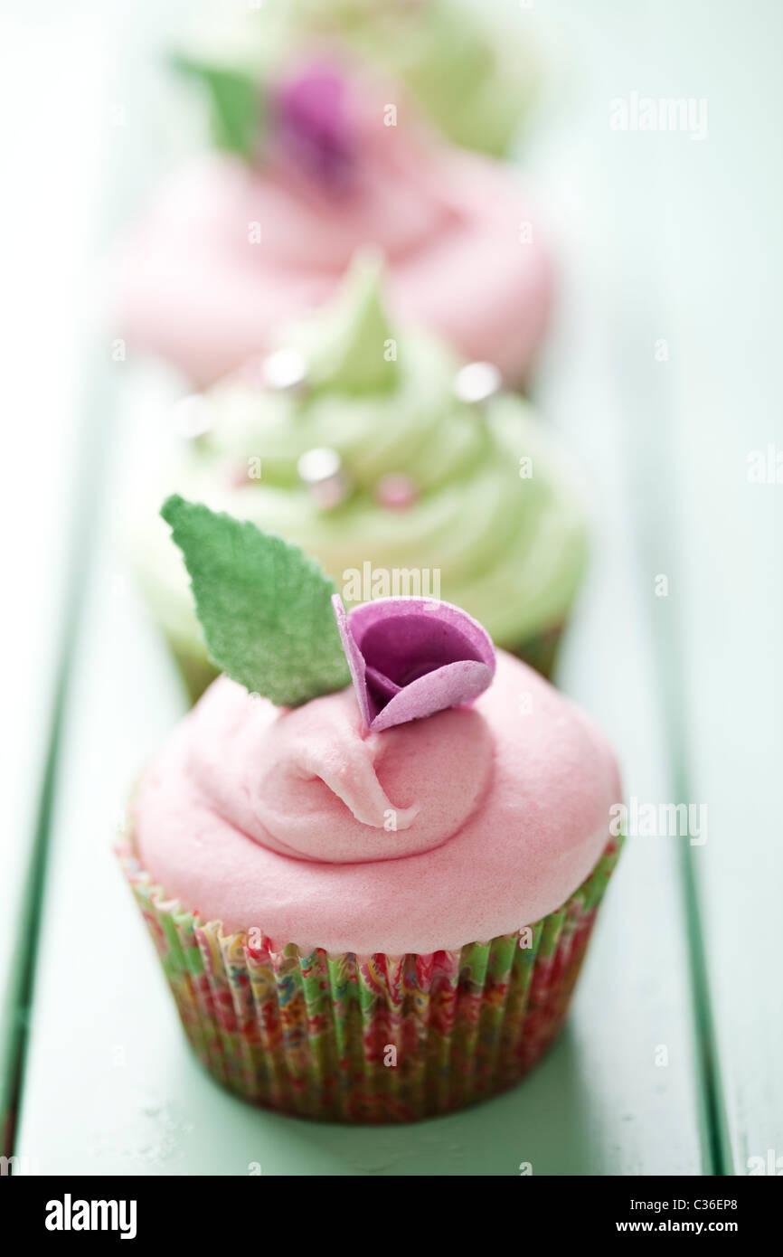pastelitos (cupcakes) Foto de stock