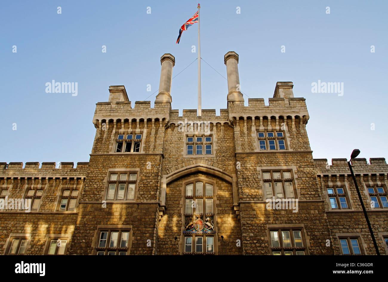 Casa de armería, Honorable Compañía de artillería, City Road, Londres, Inglaterra Imagen De Stock