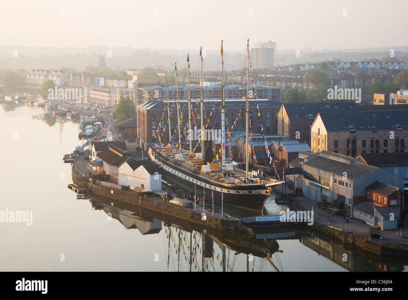 Bristol puerto flotante y el SS Gran Bretaña. Bristol. Inglaterra. En el Reino Unido. Imagen De Stock