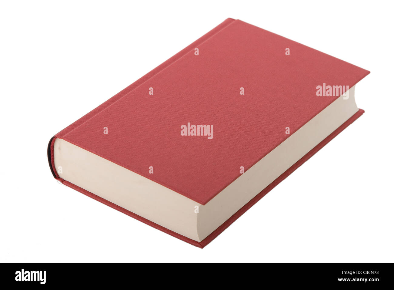 Nuevo libro de tapa dura roja con tapa. Imagen De Stock