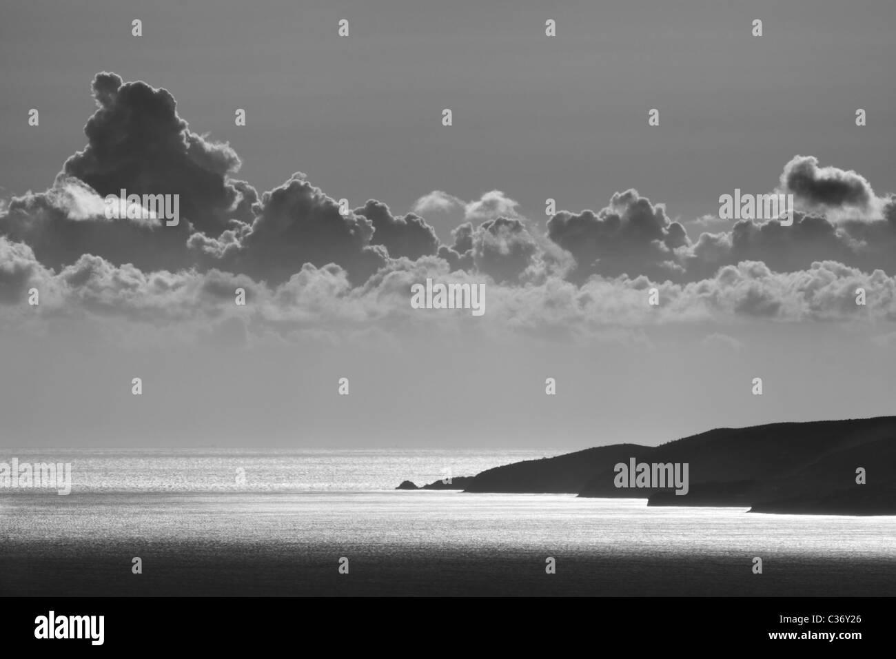 La punta de la península de Messinian del Peloponeso de Grecia Imagen De Stock