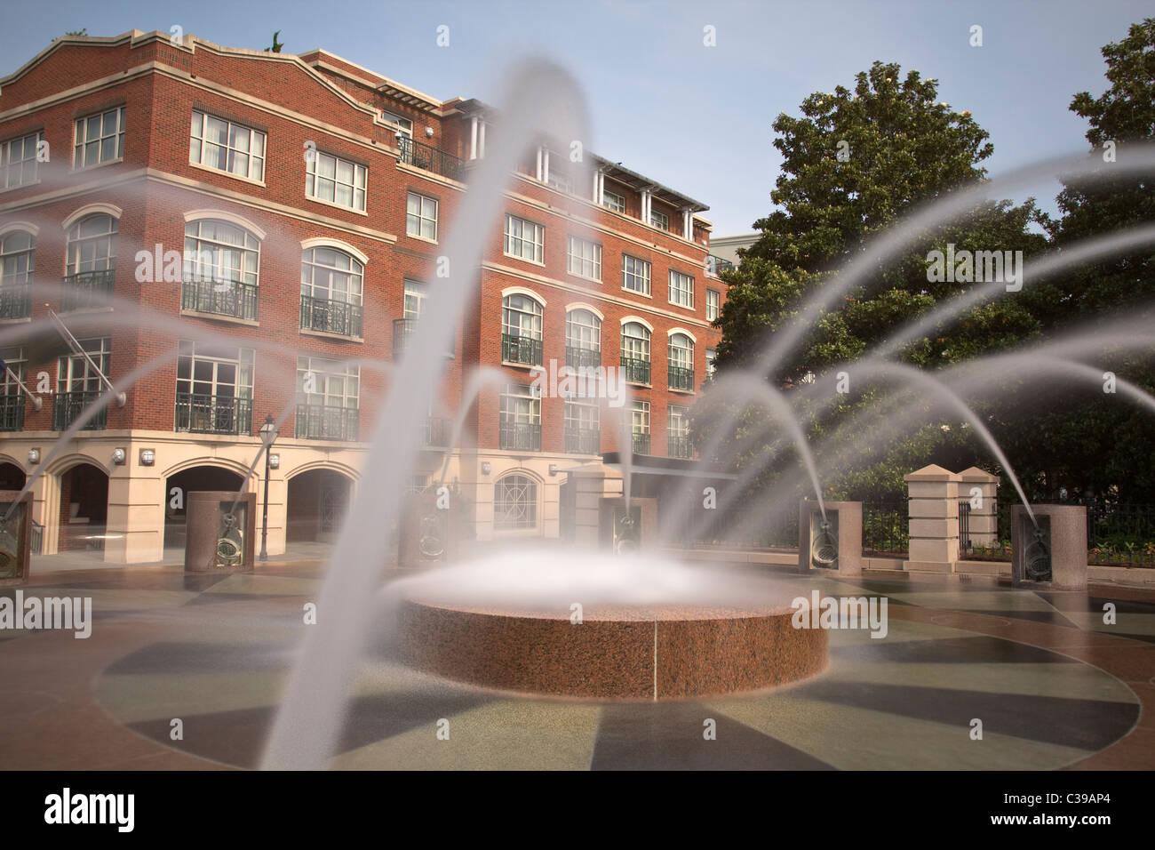 Fuente de agua en el Waterfront Park de Charleston Carolina del Sur Imagen De Stock