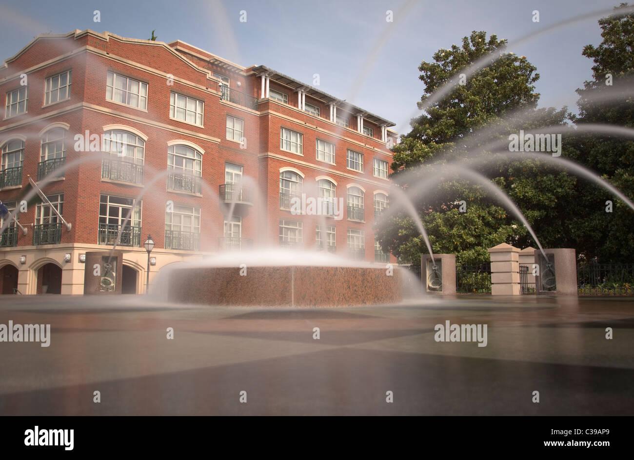 Fuente de agua Waterfront Park de Charleston Carolina del Sur Imagen De Stock