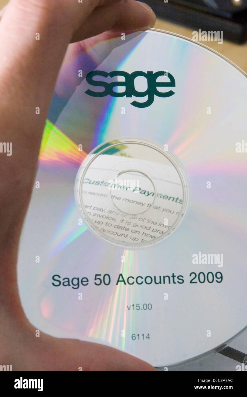 Sage '50 Cuentas 2009' DVD de instalación y guía del usuario Foto de stock