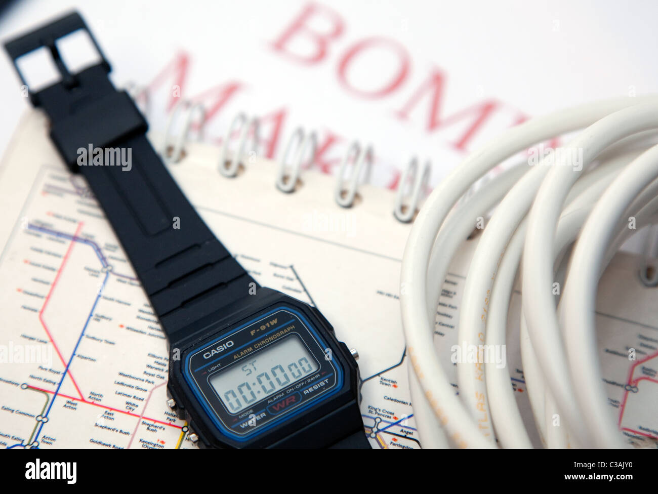 Casio F-91W reloj de pulsera Imagen De Stock