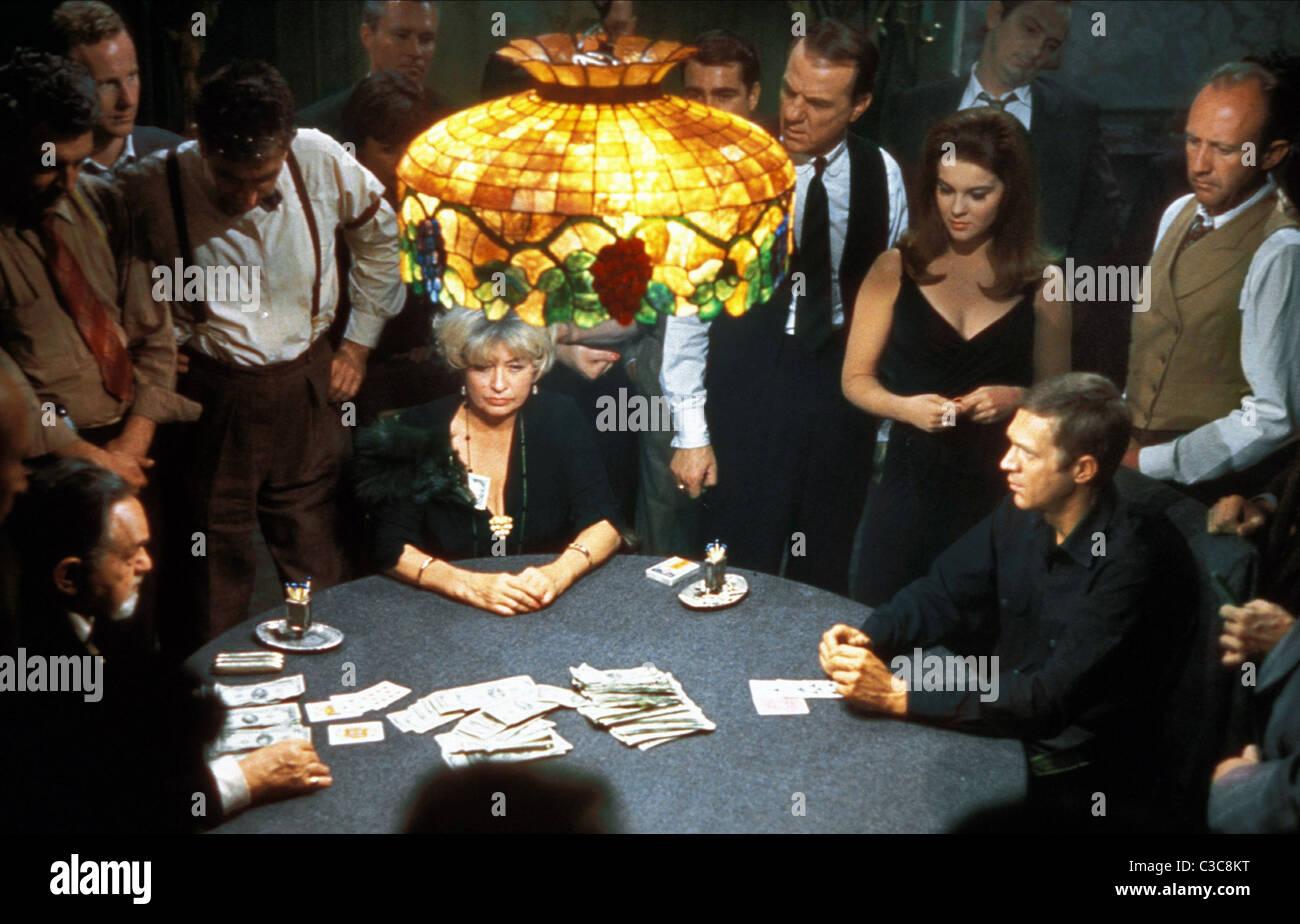 EDWARD G. Robinson, Joan Blondell, Karl Malden, ANN-MARGRET, Steve MCQUEEN, EL CINCINNATI KID, 1965 Foto de stock