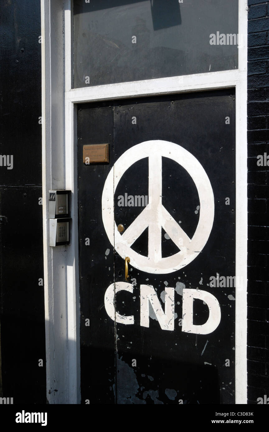 Oficina Nacional de la CND en 162 Holloway Road, Londres, Inglaterra Imagen De Stock