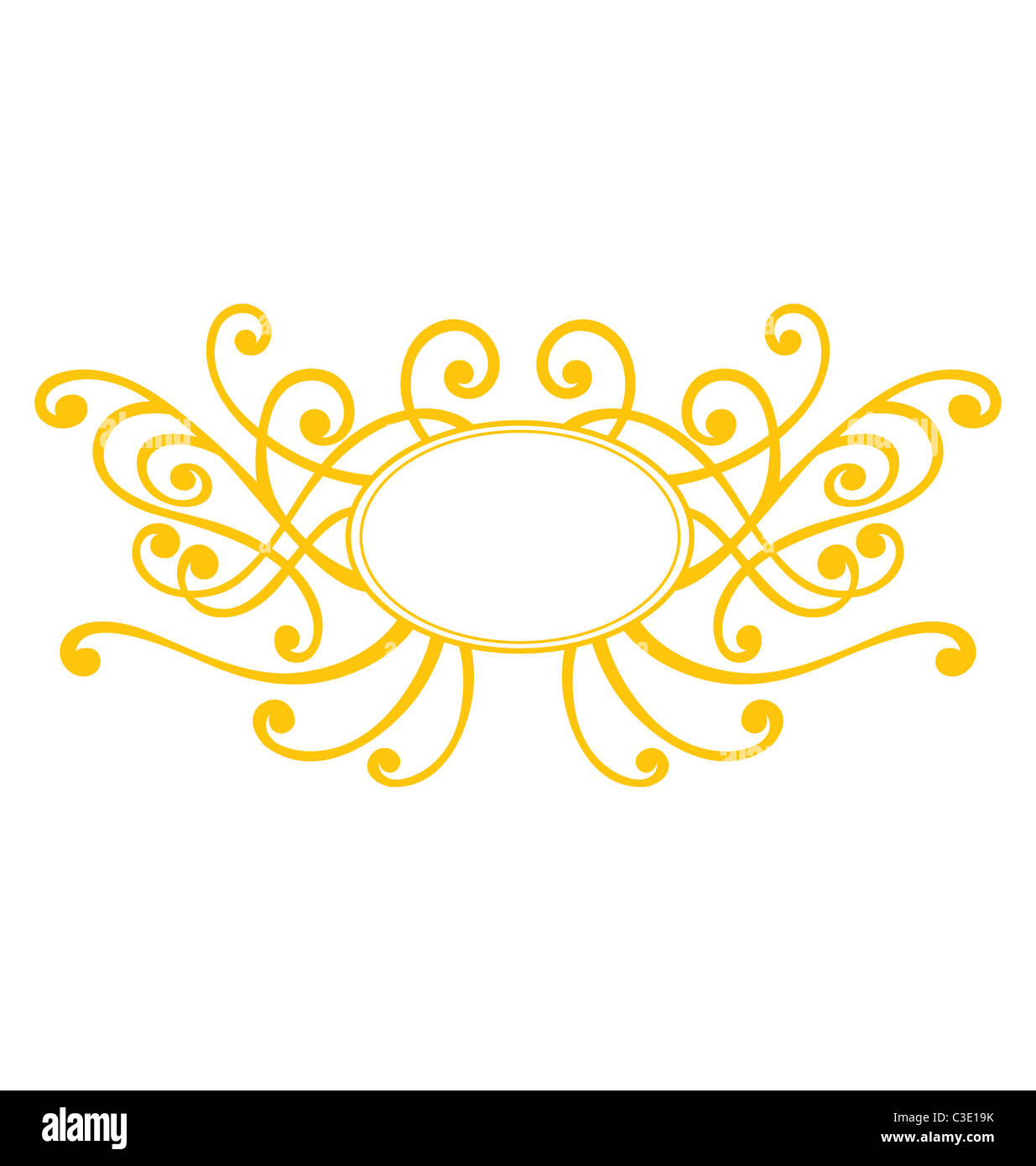 Vector Decorative Oval Frame Imágenes De Stock & Vector Decorative ...