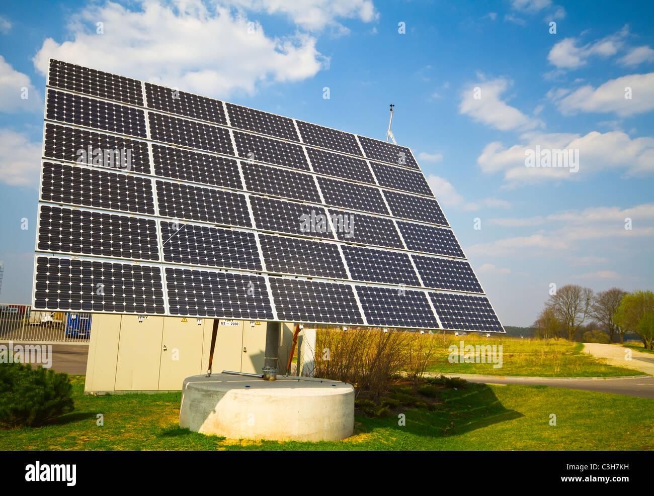 Panel de energía solar Imagen De Stock