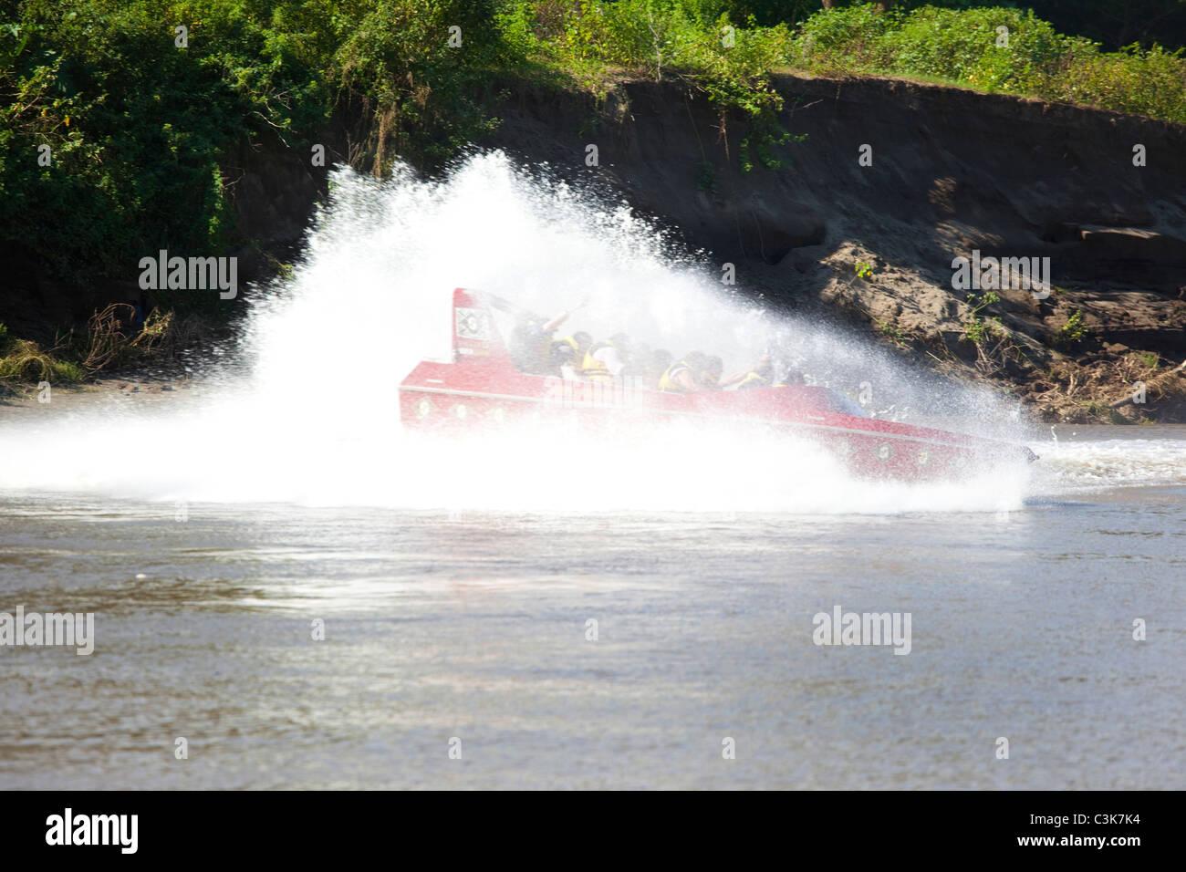 River Safari Sigatoka, Jet Boat Trip, Viti Levu, Fiyi Foto de stock