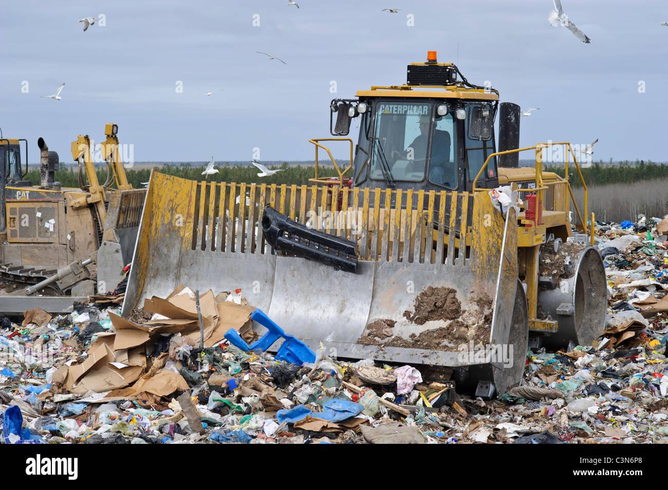Gestión de residuos regional volcado en Nueva Brunswick, Canadá Imagen De Stock