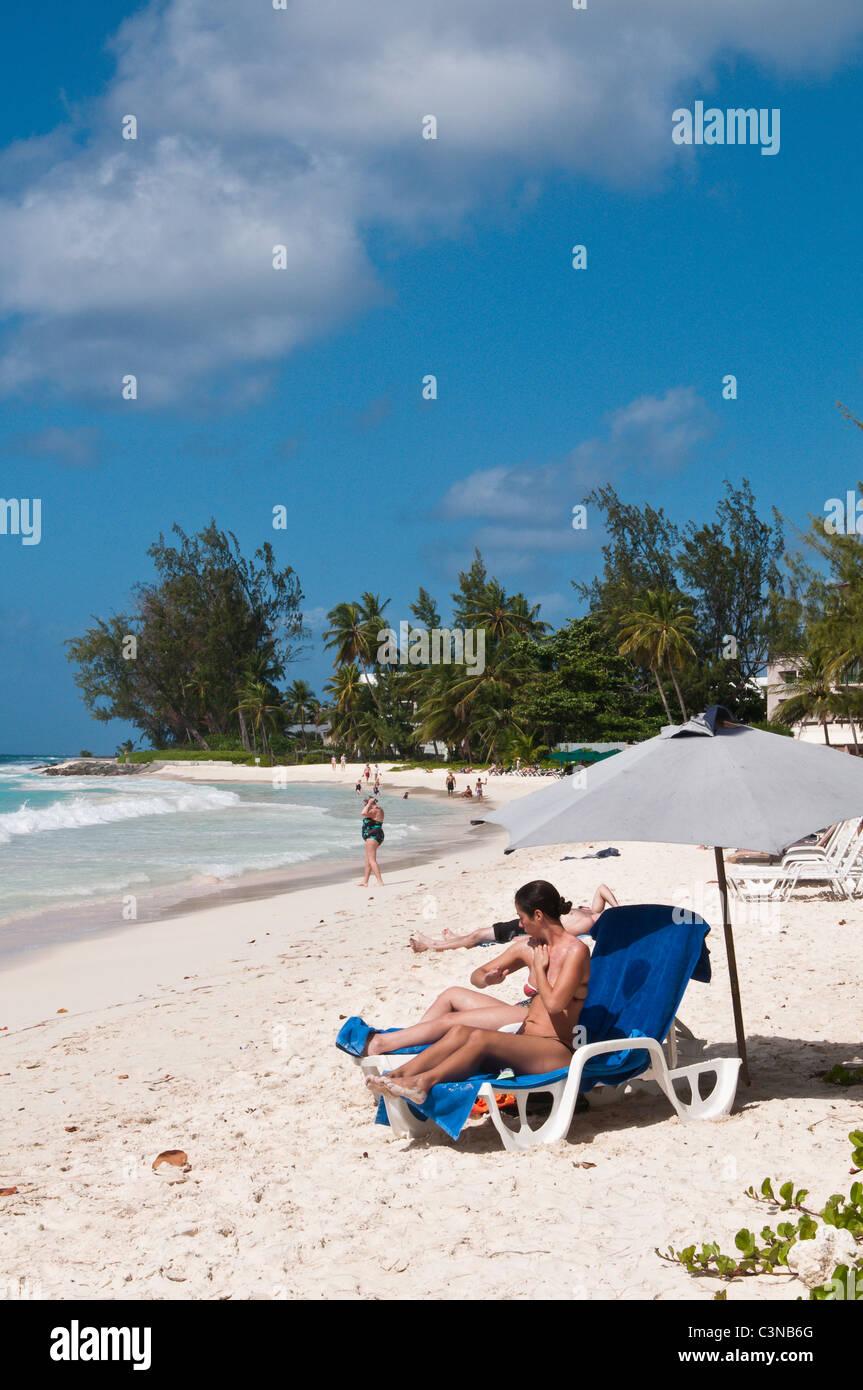 Playa Rockly Barbados, Caribe. Imagen De Stock