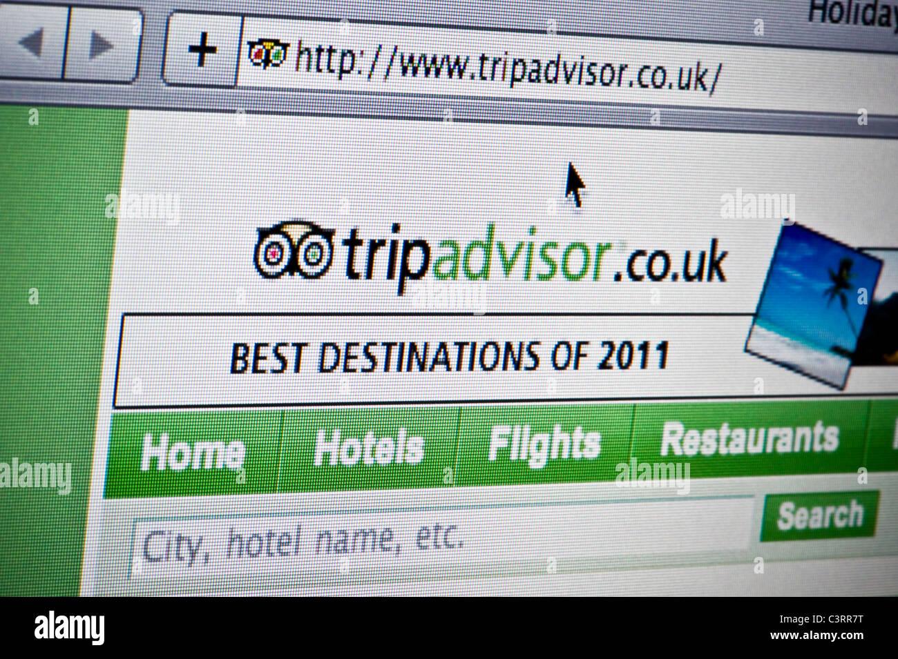 Cerca del logotipo de Tripadvisor como se ve en su sitio web. (Sólo para uso editorial: -print, televisión, Imagen De Stock