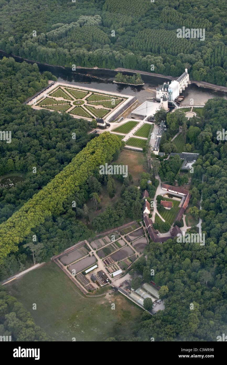 Palacio de Chenonceau, Francia Imagen De Stock