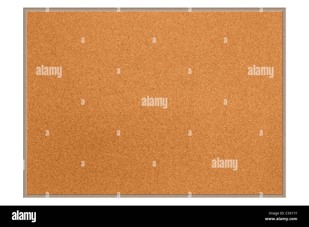 Un nuevo tablero de corcho vacío para su uso como es o para diseñadores para colocar la copia o imagen Imagen De Stock