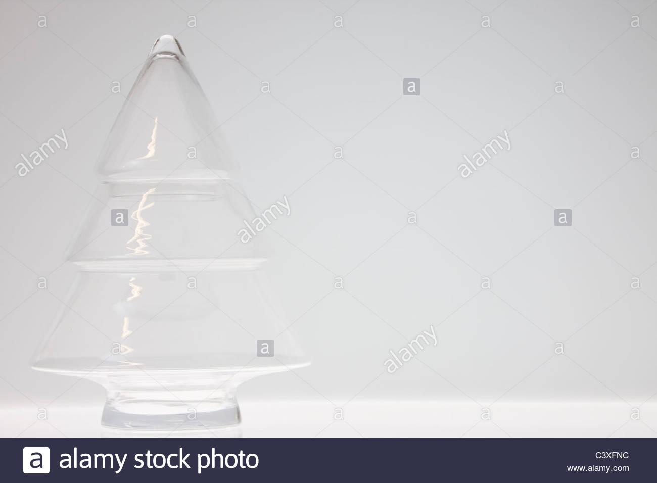 Árbol de Navidad de cristal Decoración Imagen De Stock