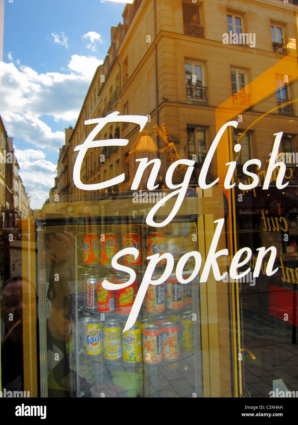 Detail English Language Sign Window Bakery Shop European