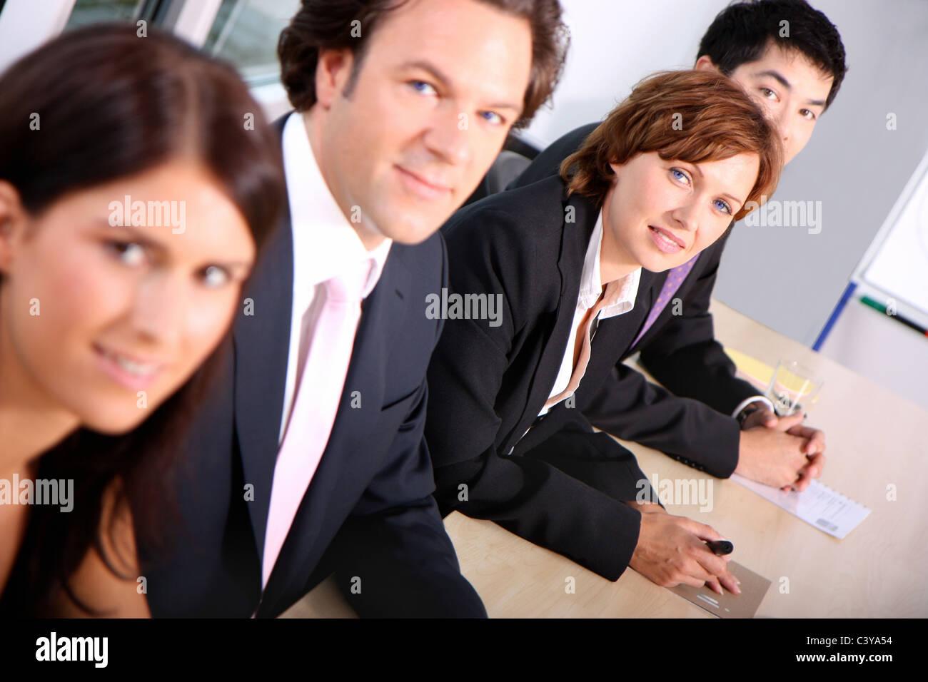 Trabajo, Trabajo, oficina, equipo, grupo, pueblo, presentación, apelación, conferencia, sala de conferencias, Imagen De Stock
