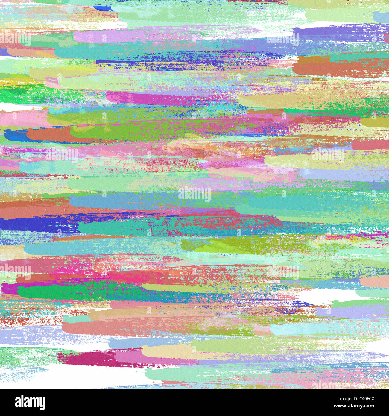 Conjunto de trazos de pintura de color Imagen De Stock