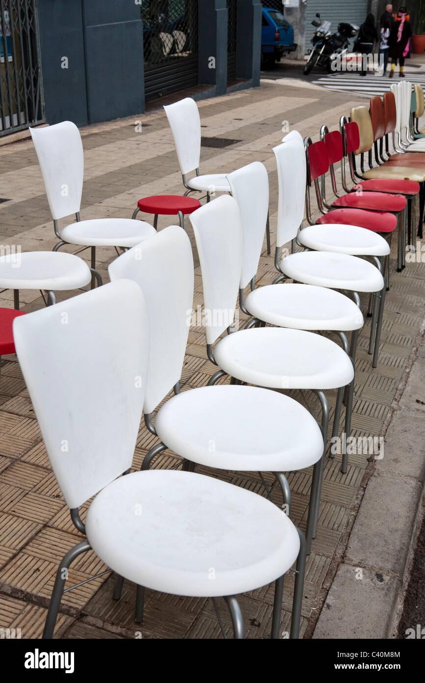 sillas blancas comedor en canarias