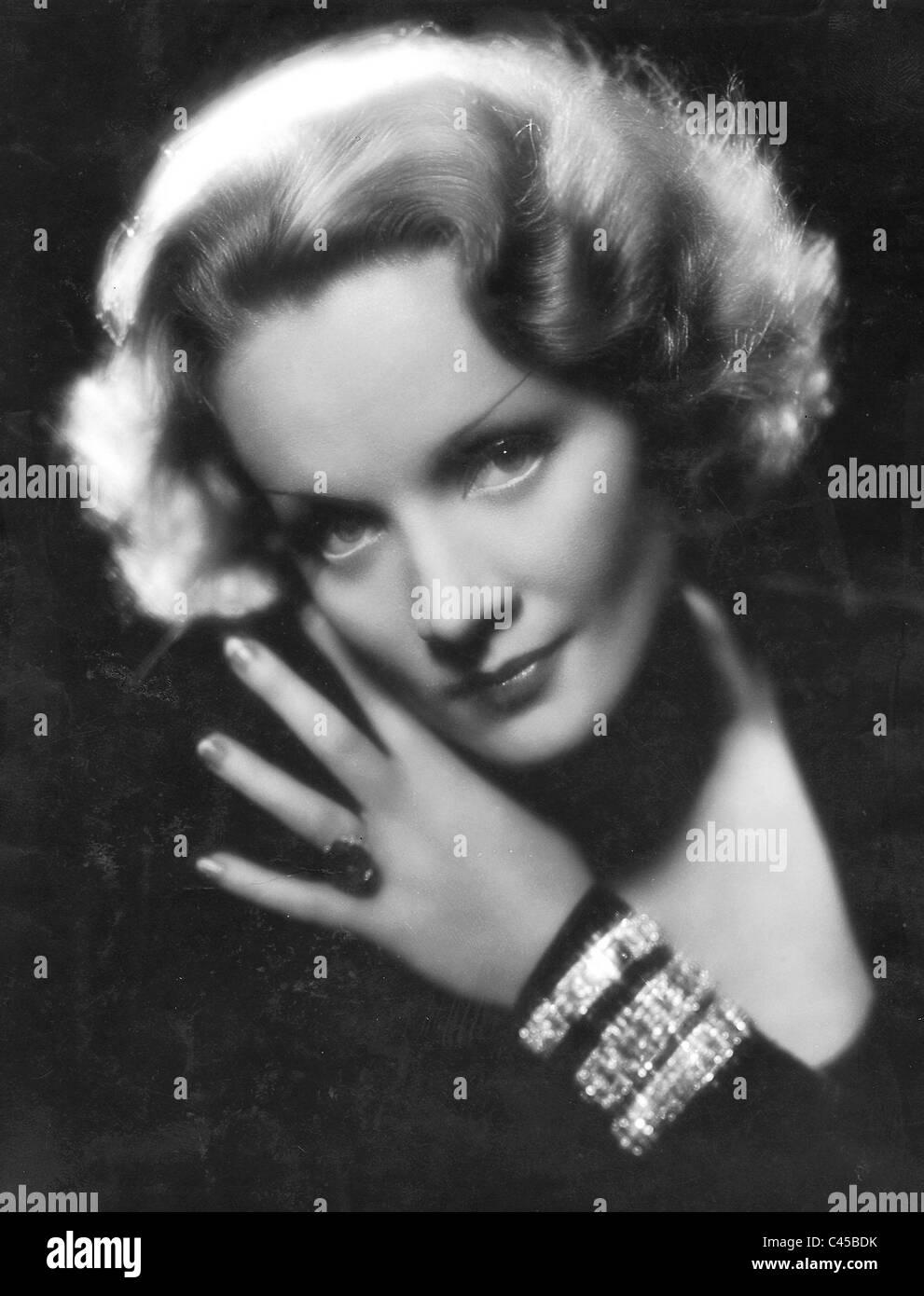 Marlene Dietrich en los 30's Imagen De Stock