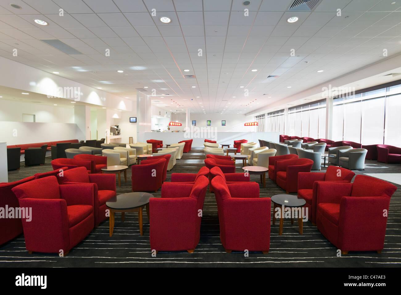 Qantas Club Lounge en Cairns Aeropuerto Doméstico. Cairns, Queensland, Australia Imagen De Stock