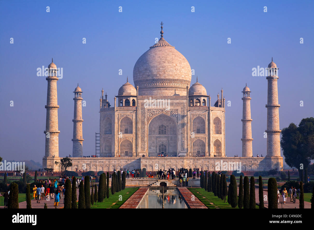En Uttar Pradesh, India - Agra - El Taj Mahal Imagen De Stock