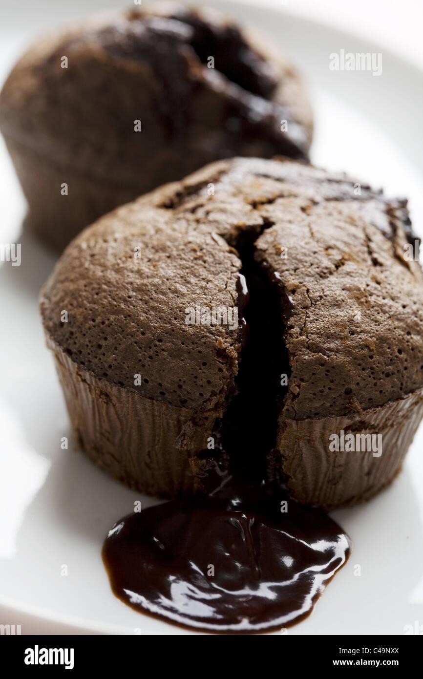 Suflé de chocolate. Imagen De Stock