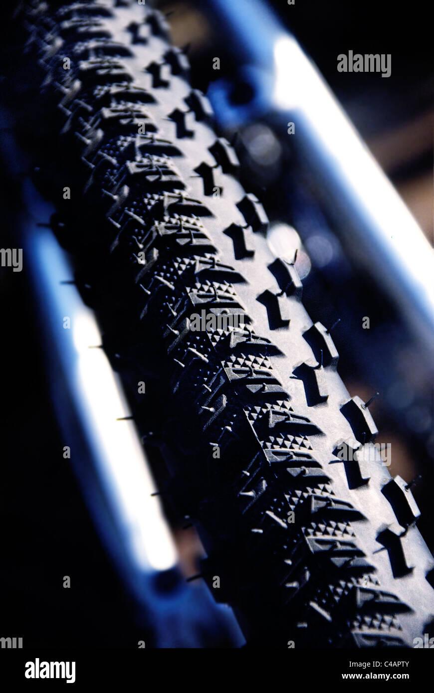 neumático de la bicicleta Imagen De Stock