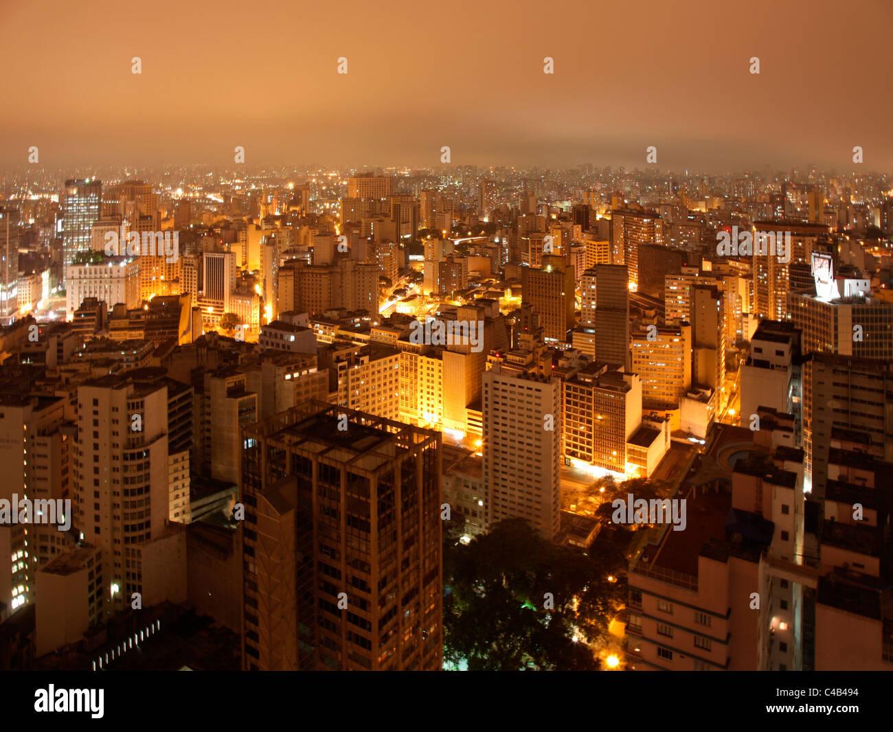 Sao Paulo Visto Desde La Terraza De La Azotea Del Edificio