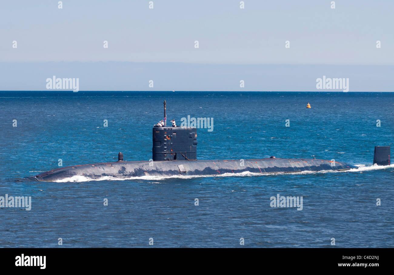 La clase Trafalgar submarino HMS Triumph Imagen De Stock