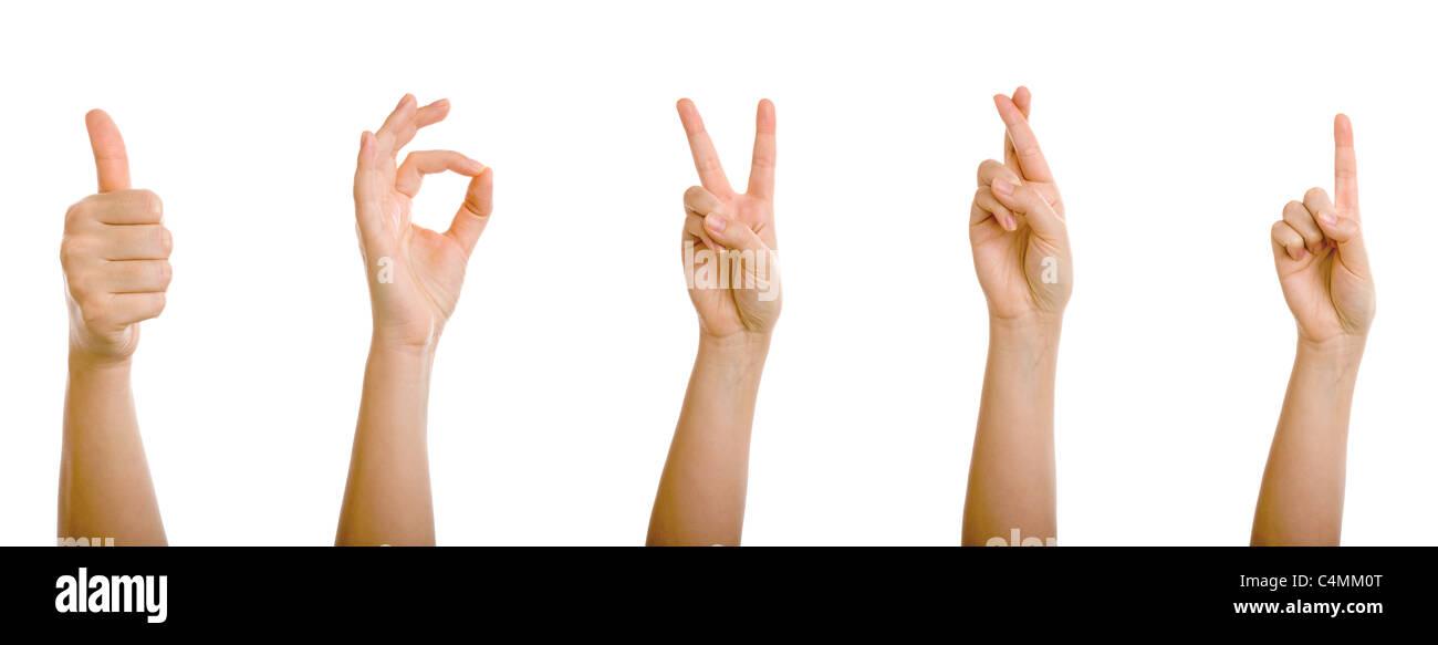 Mano Thumbs Up Positiv Símbolo Imagen De Stock