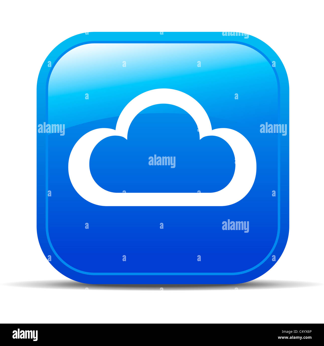 Icono de botón Internet Cloud Computing Imagen De Stock