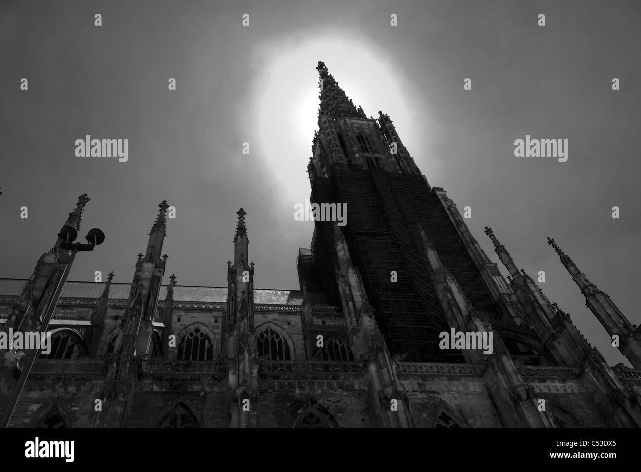 Ciudad Medieval de Ulm Foto de stock