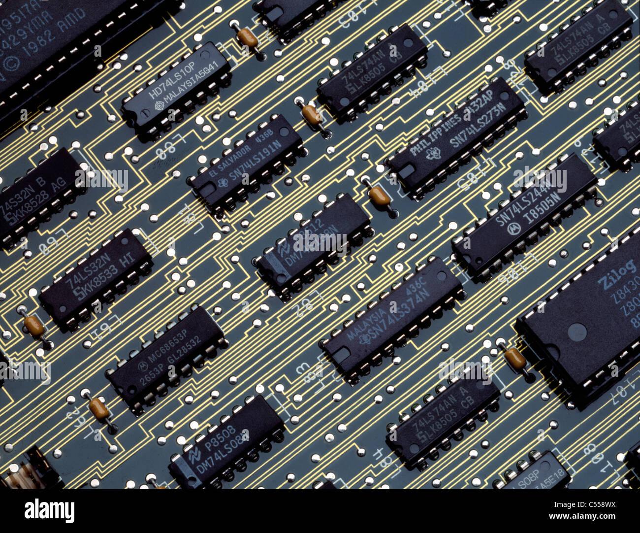 Chips de computadora Foto de stock