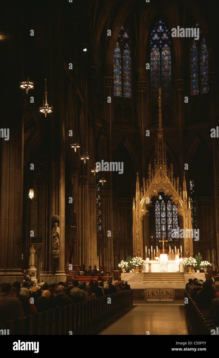 La Catedral de San Patricio de Nueva York, EE.UU. Foto de stock