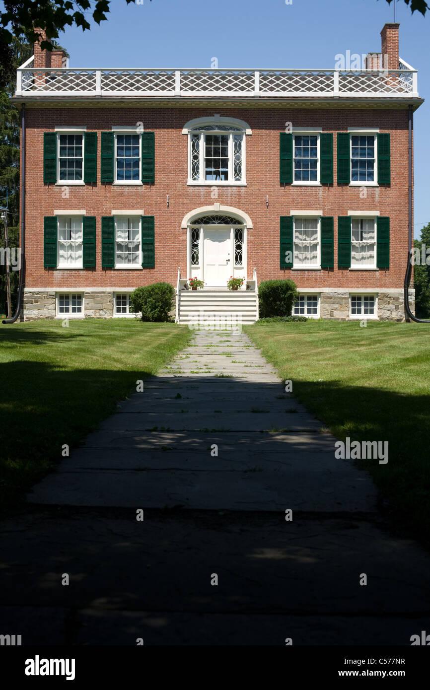 James Vanderpoel House, 1810, arquitectura de estilo federal, Kinderhook, condado de Columbia, Estado de Nueva York Imagen De Stock