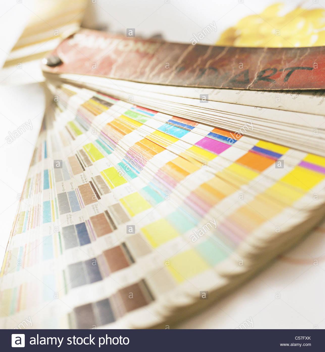 Cerca de muestras de color Imagen De Stock